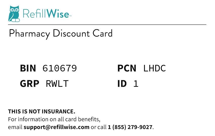 BIN: 610679, PCN: LHDC, GRP: RWLT, ID: 1